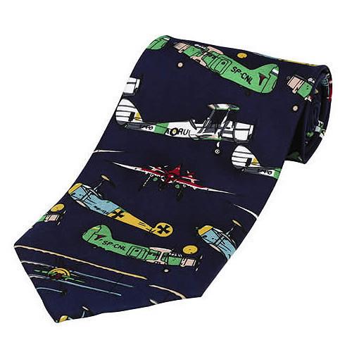 Tie-Blue With Bi & Tri Planes