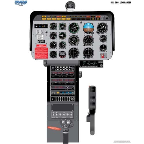 BELL 206L Cockpit Training Poster