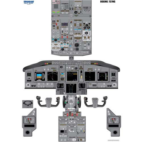 737-NG Cockpit Training Poster