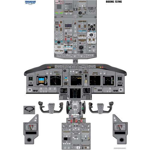 737-NG Cockpit Training Poster