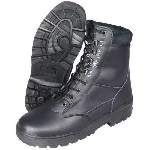 Pilot's Patrol Boots - Black Leather