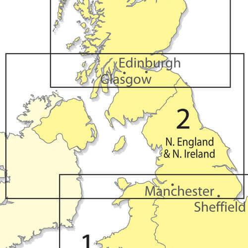 Northern England 1:500 000 Chart - Folded