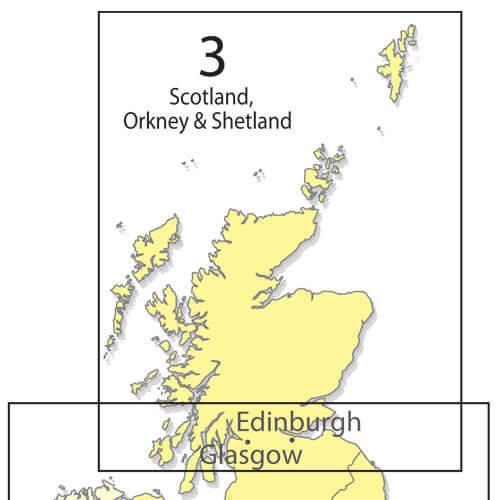 Scotland 1:500 000 Chart - Folded
