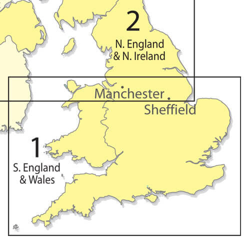 Southern England 1:500 000 Chart - Folded