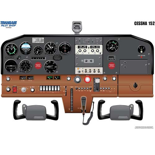 Cessna 152 Cockpit Training Poster