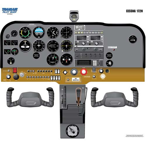 Cessna 172N Cockpit Training Poster