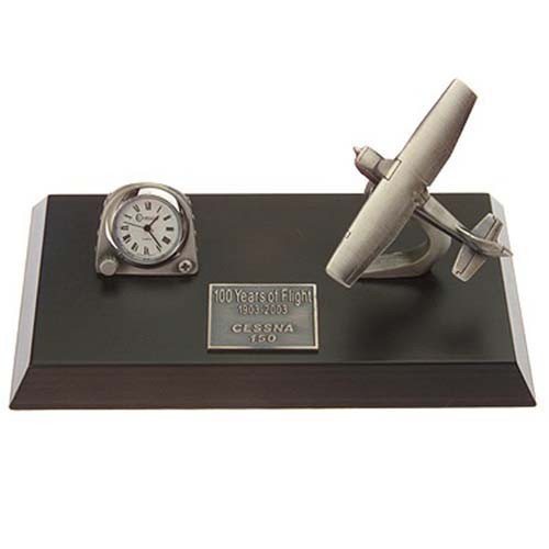 Cessna 150/172 Pewter clock