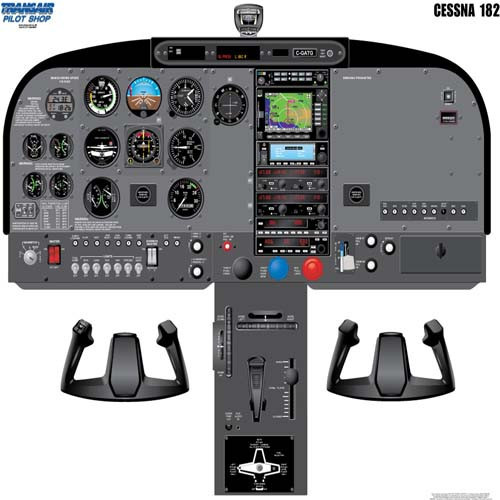 Cessna 182 Cockpit Training Poster