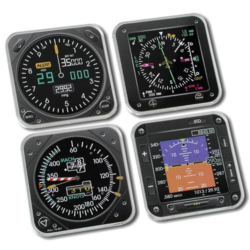 EFIS Instrument Coaster Set of 4