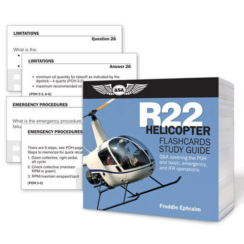 Helicopter flashcards study Guide For R22
