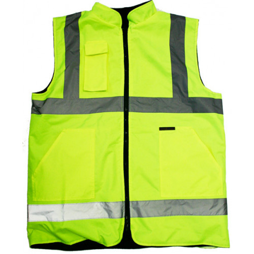 Belfast high viz reversible to fleece vest