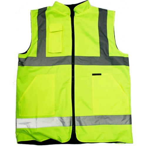 High Viz Reversible to Fleece Vest - Small