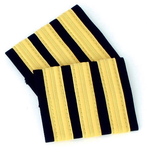 Three Bar Gold Epaulettes