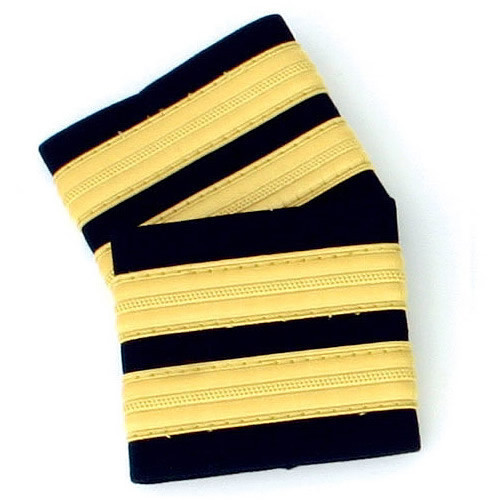 Two Bar Gold Epaulettes