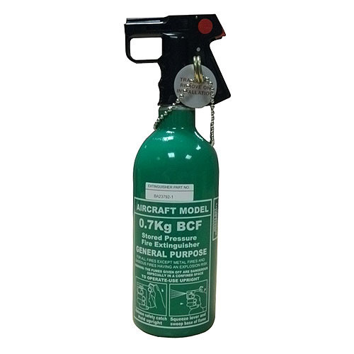 Helicopter 0.7KG BCF Fire Extinguisher (Green)