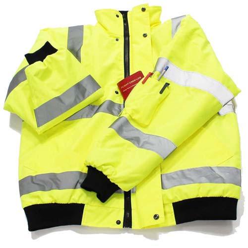 High Viz Bomber Jacket Yellow Large