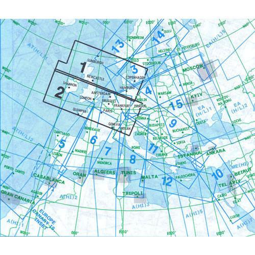 Jeppesen E(HI)1+2 IFR H/LEVEL Chart