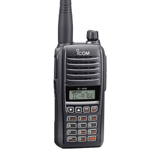 IC-A16E 8.33/25kHz Ground to Air Support Transceiver