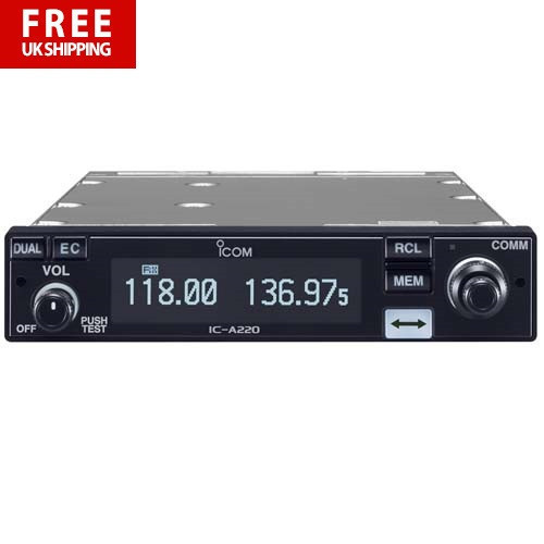 ICOM IC-A220T 8.33MHz (Panel Mount) Transceiver -TSO Approved