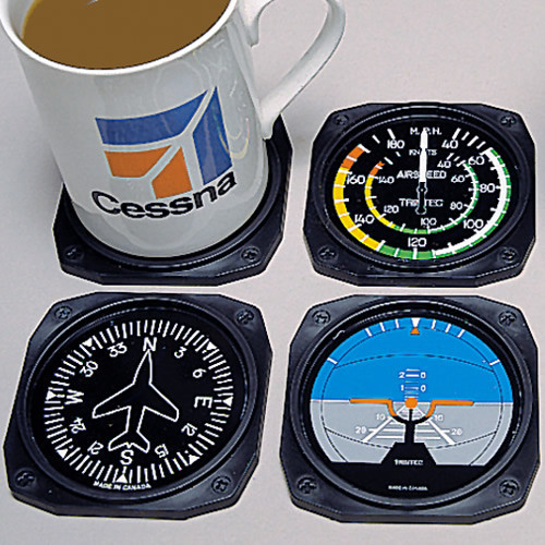 Flight Instrument Coasters (4 Pack)