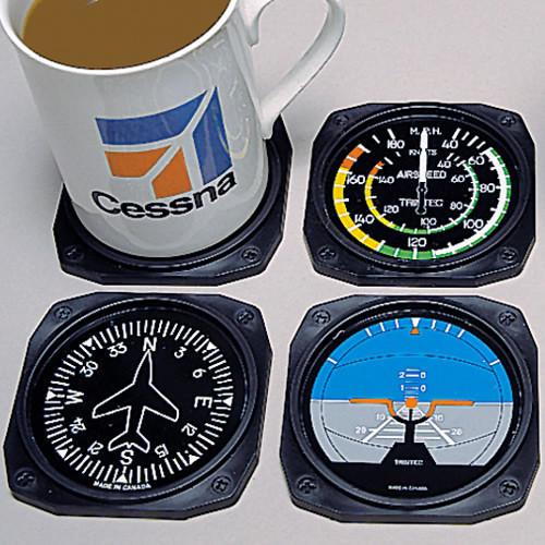 Flight Instrument Coasters (4 Pack)