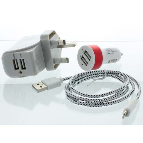 iPad Cigarette & Wall Charger for iPad & iPhone