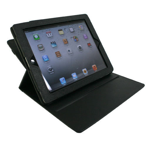Leather Rotation Cover Skin Case For iPad2