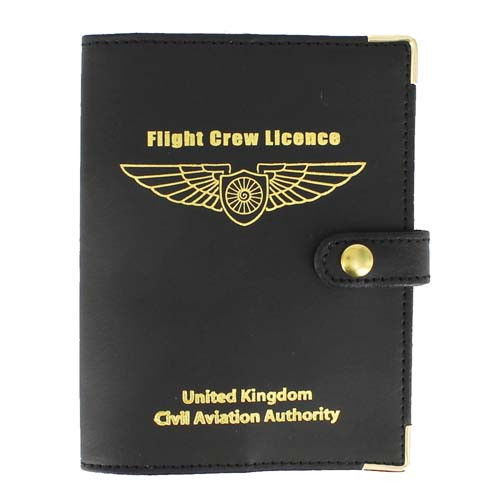 Flight Crew Licence Cover-Leather - EASA Size