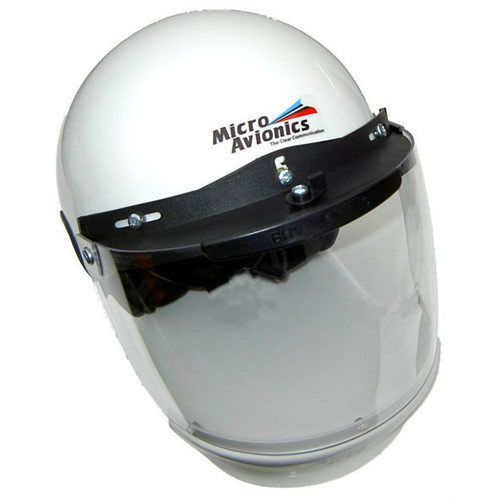 Microavionics MM020A Helmet with Visor & Air Dam
