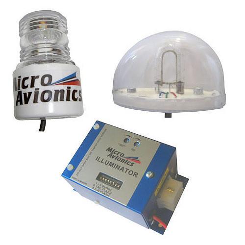 Microavionics Strobe Triple Head Clear Cylinder LE