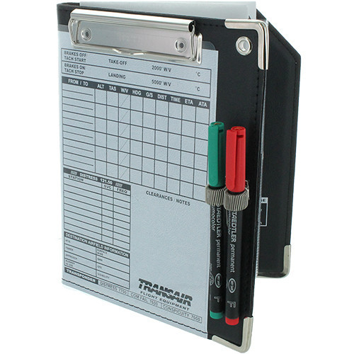 Transair Folding Organiser Kneeboard -  Black
