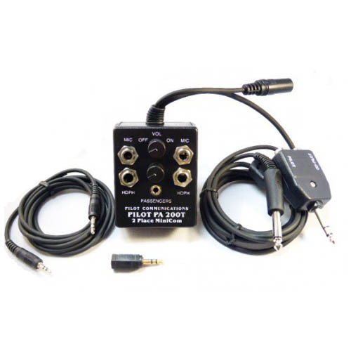 Pilot PA200T Intercom with Cell Input For Aircraft