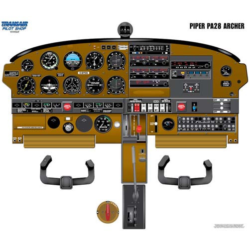 Piper ARCHER Cockpit Training Poster