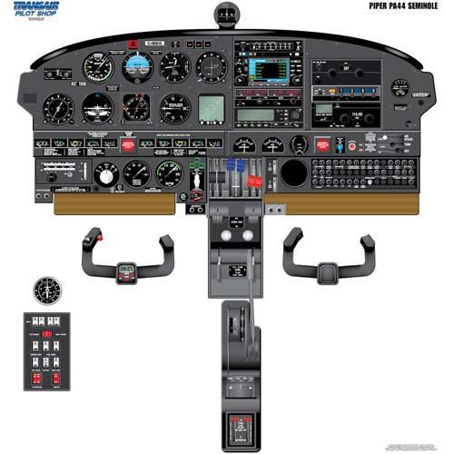 Piper SEMINOLE Cockpit Training Poster
