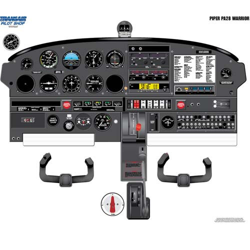 Piper WARRIOR Cockpit Training Poster