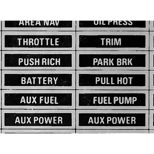 Panel placard set