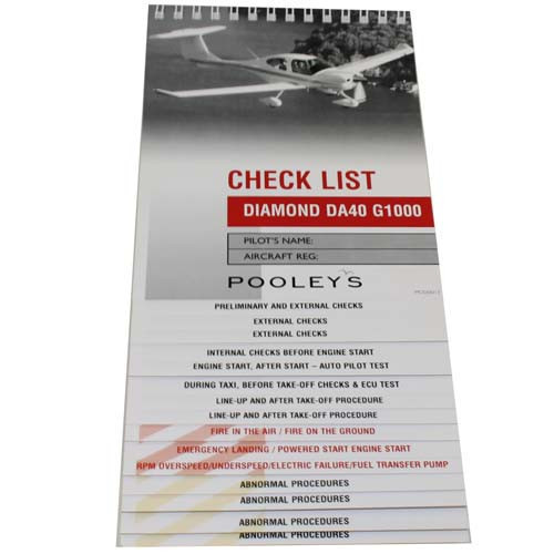 Checklist - Diamond DA40 G1000