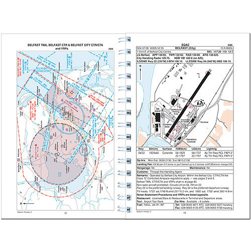 Pooleys Ireland Flight Guide - Spiral Bound