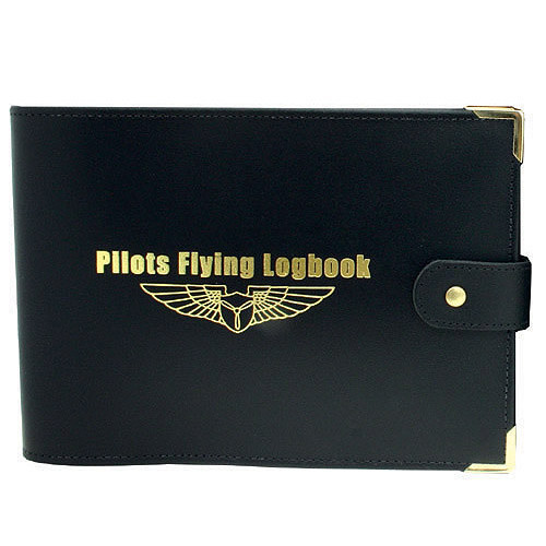 Black Leather GA Logbook Cover