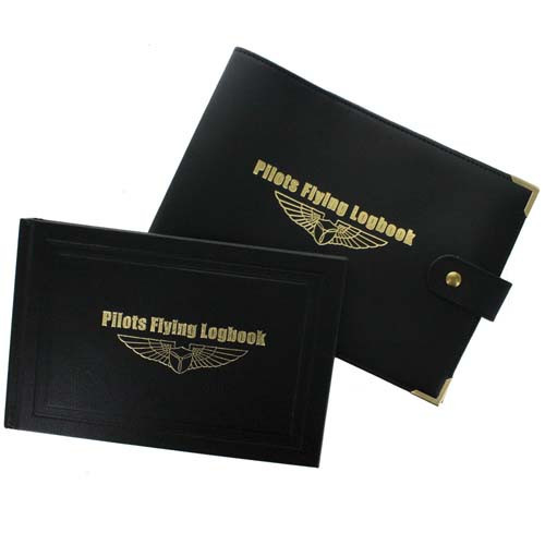 Transair GA Pilots Flying Logbook and Leather Cover bundle