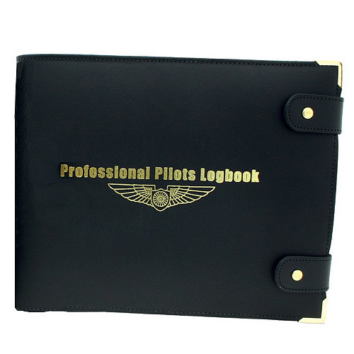 Black Leather Professional Logbook Cover