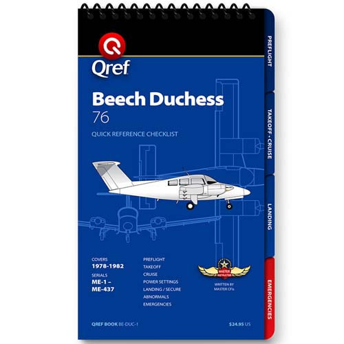 Beechcraft Duchess BE-76 Qref Checklist