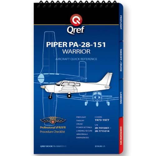 Piper Warrior 151 PA-28-151 Qref Checklist
