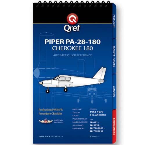 Piper Cherokee 180 PA-28-180 Qref Checklist