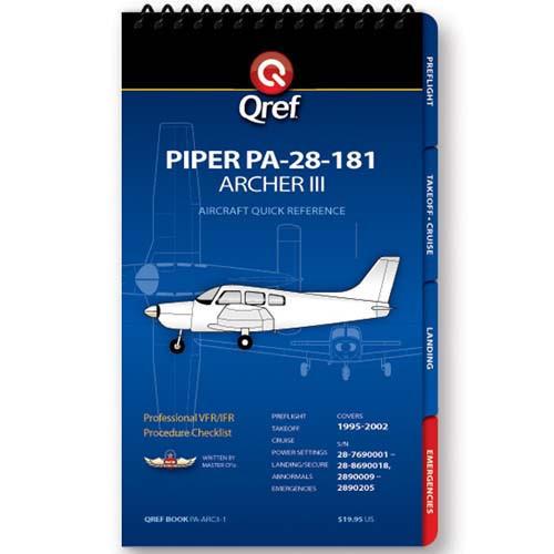 Piper Archer III PA-28-181 Qref Checklist
