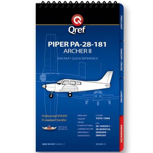 Piper Archer II PA-28-181 Qref Checklist