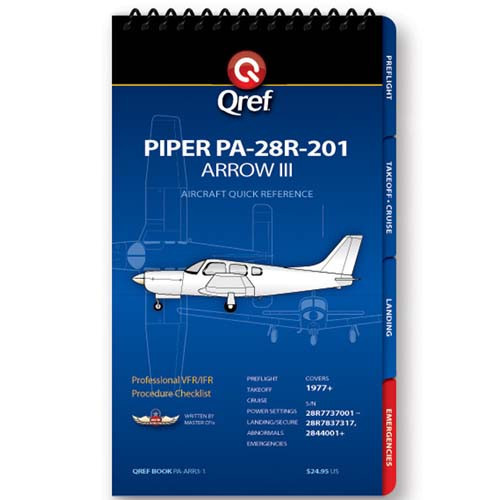 Piper Arrow III PA-28R-201 Qref Checklist