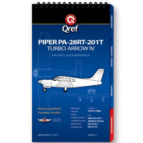 Piper Arrow IV Turbo PA-28RT-201T Qref Checklist