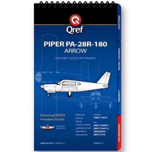 Piper Arrow 180 PA-28R-180 Qref Checklist
