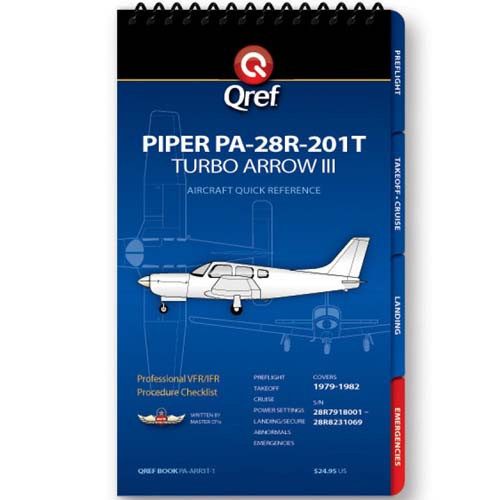 Piper Arrow III Turbo PA-28R-201T Qref Checklist